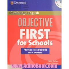 Objective first for school